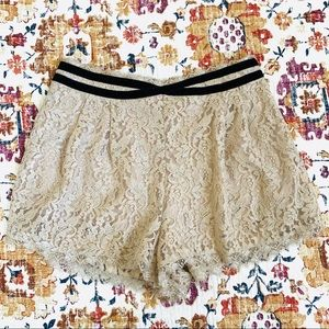 Free People High Waisted Lace Shorts Size 12
